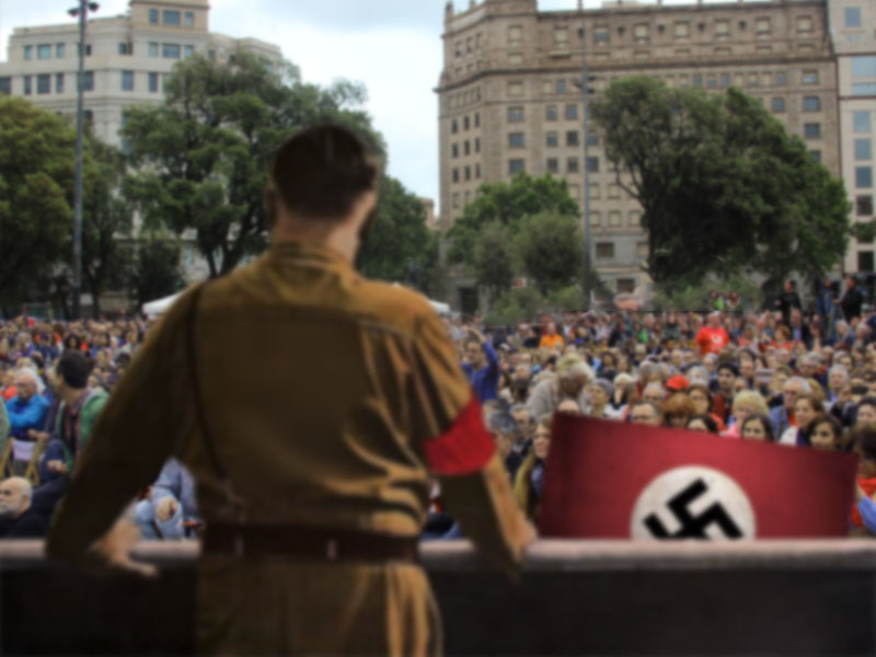 What to do if Hitler comes to give a speech in Plaza Cataluña