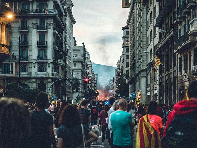 Catalan Nationalism has become violent, excluding and anti-European according to the Washington Post.