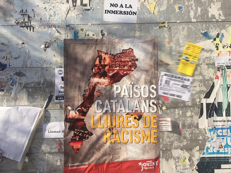 Catalan nationalism campaign - They aren't the racists, The Spaniards are